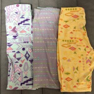 Lularoe Tween Leggings Lot of 3